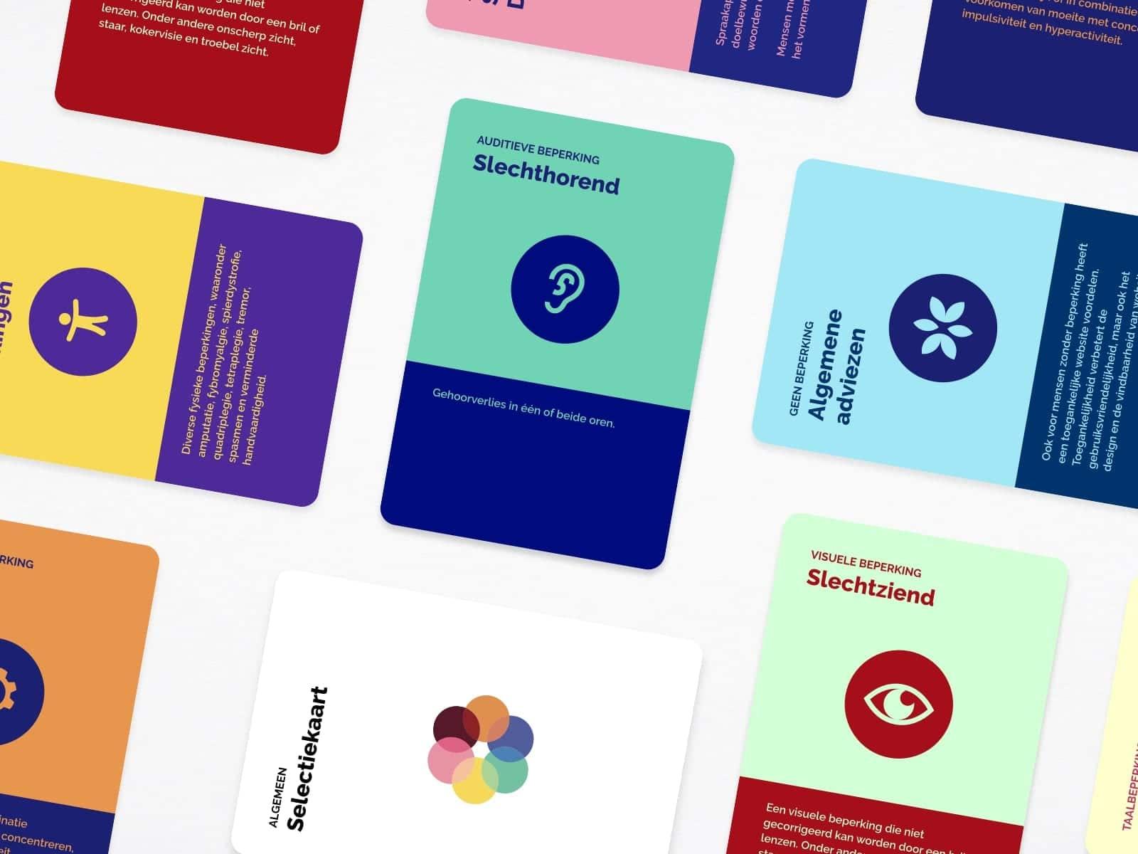 afbeelding met de kaartjes van het kaartspel Denken in beperkingen